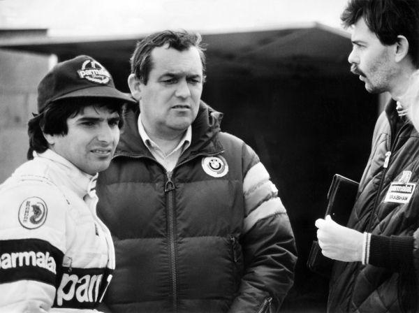 Paul Rosche, Nelson Piquet y Gordon Murray, 1982.