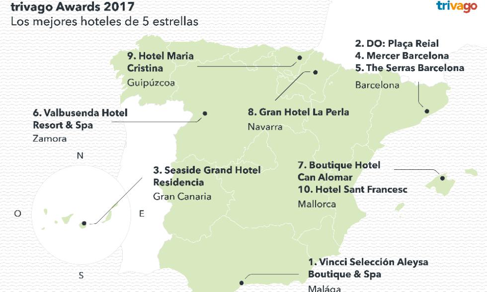 mejores hoteles espana 2016 cinco estrellas