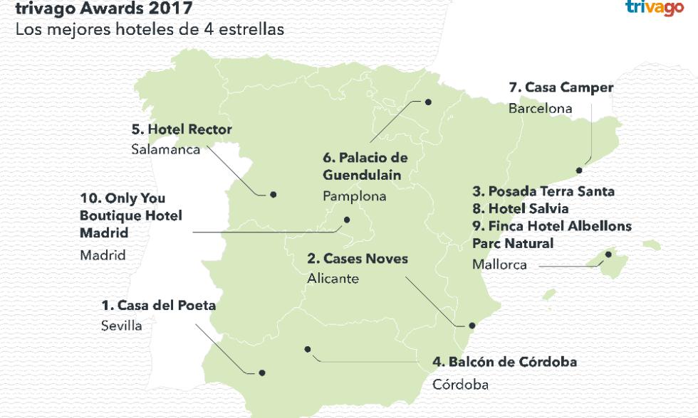 mejores hoteles espana 2016 cuatro estrellas