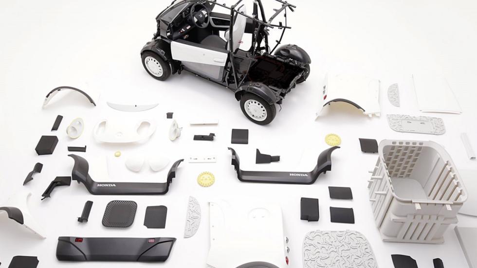 coche 3D de honda despiece