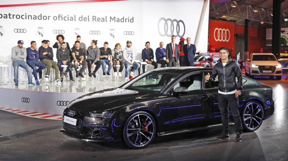 Audi jugadores Real Madrid rs6 rs7 sq7 karts carlos sainz