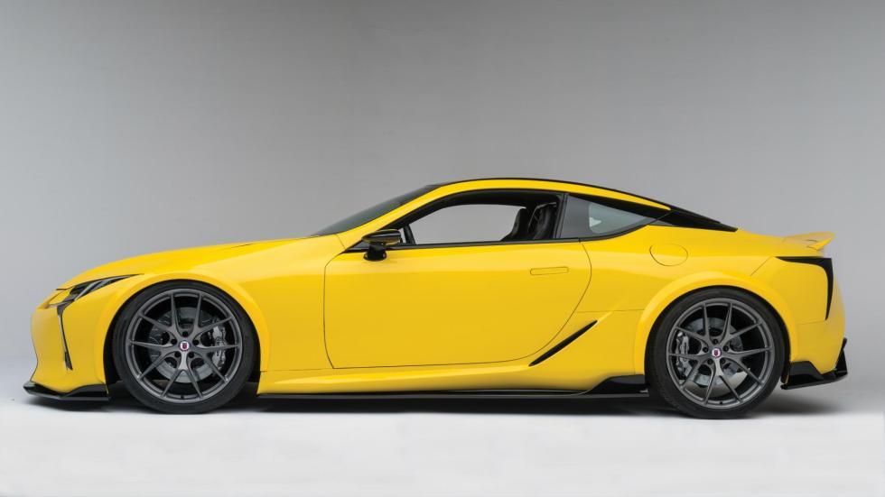 Lexus LC500 preparado tuning sema show hre amarillo