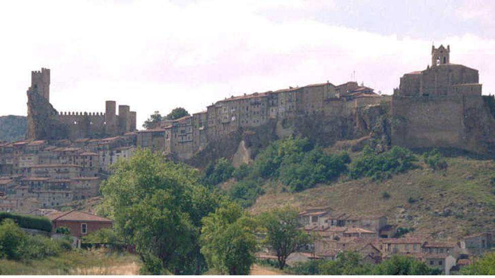 Vista de Frías, en Burgos.