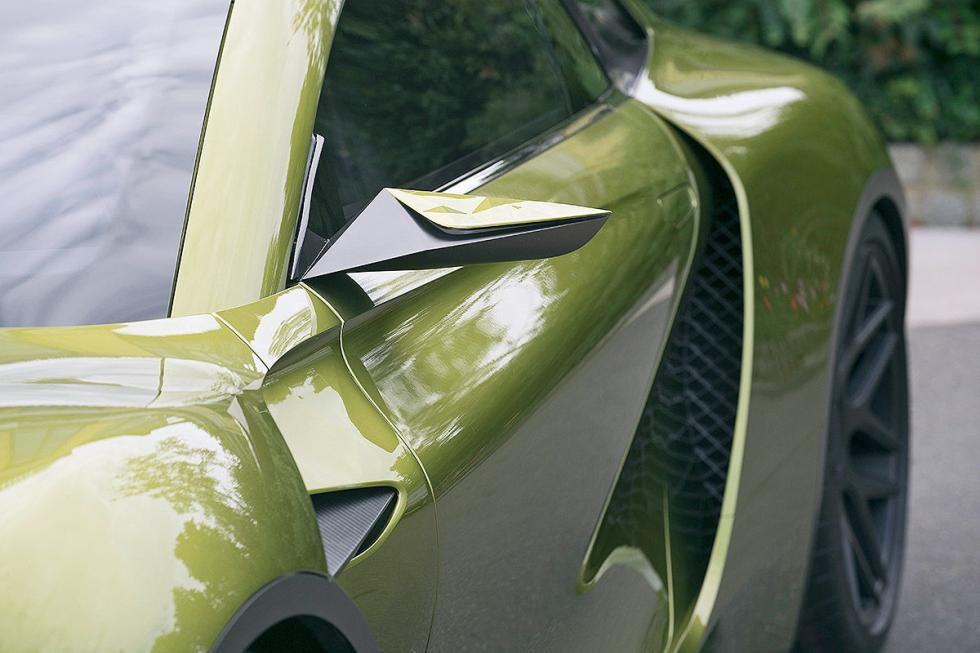 DS E-Tense detalle espejos