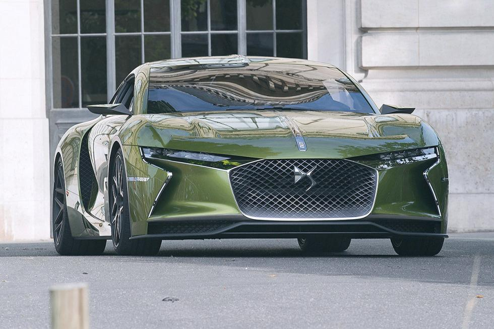 DS E-Tense parrilla