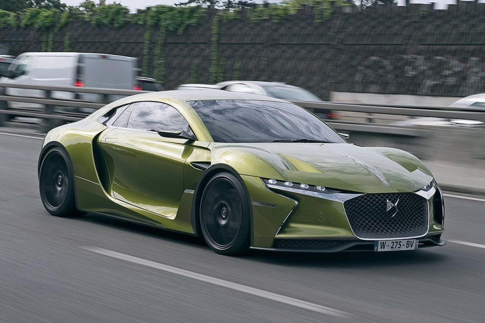 DS E-Tense parrilla lateral