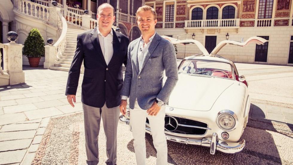 Nico Rosberg y su Mercedes 300 SL Coupé del 55 'Alas de Gaviota'