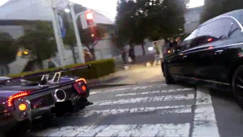 Pagani Zonda ZoZo accidente trasera