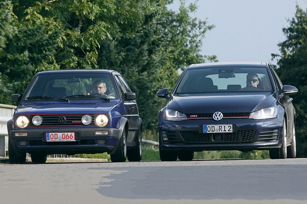 duelo ayer y hoy vw golf 2 gti g60 vs golf 7 gti. Black Bedroom Furniture Sets. Home Design Ideas