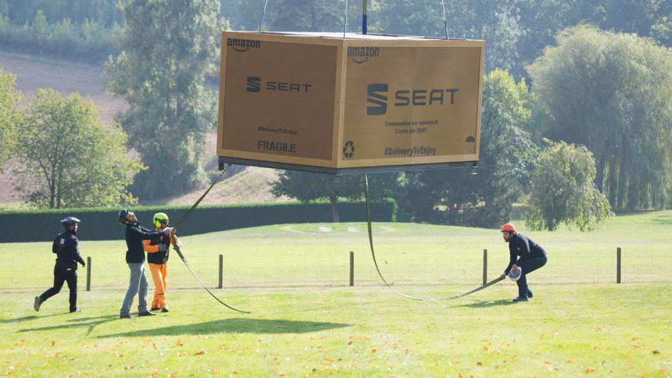 seat vende coches amazon entrega helicóptero