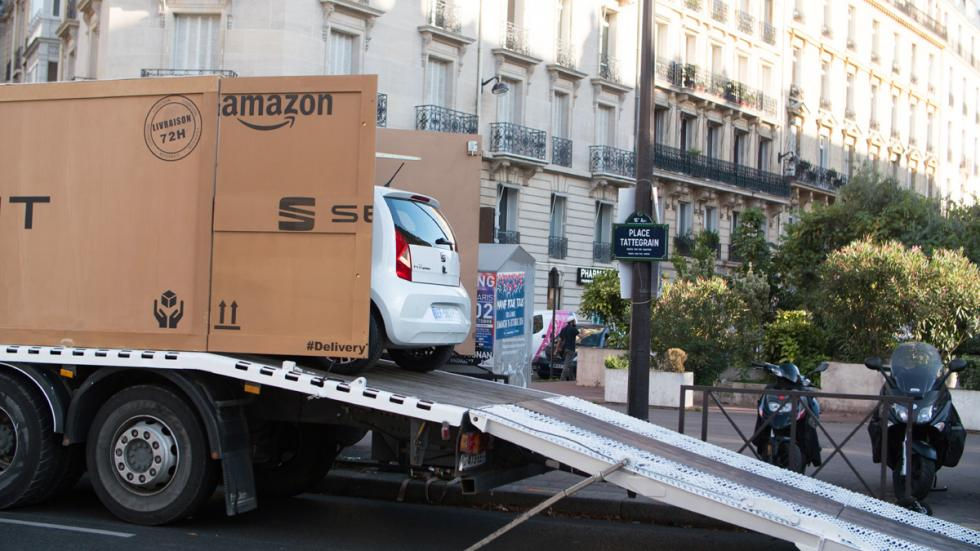 seat vende coches amazon entrega grúa