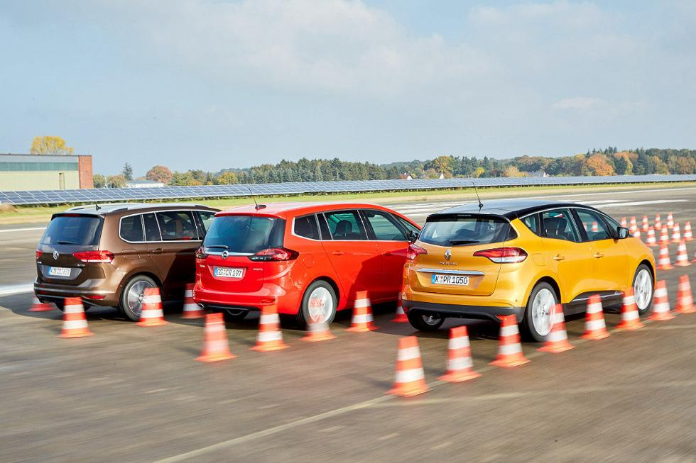 Comparativa: Renault Scénic vs Opel Zafira y VW Touran