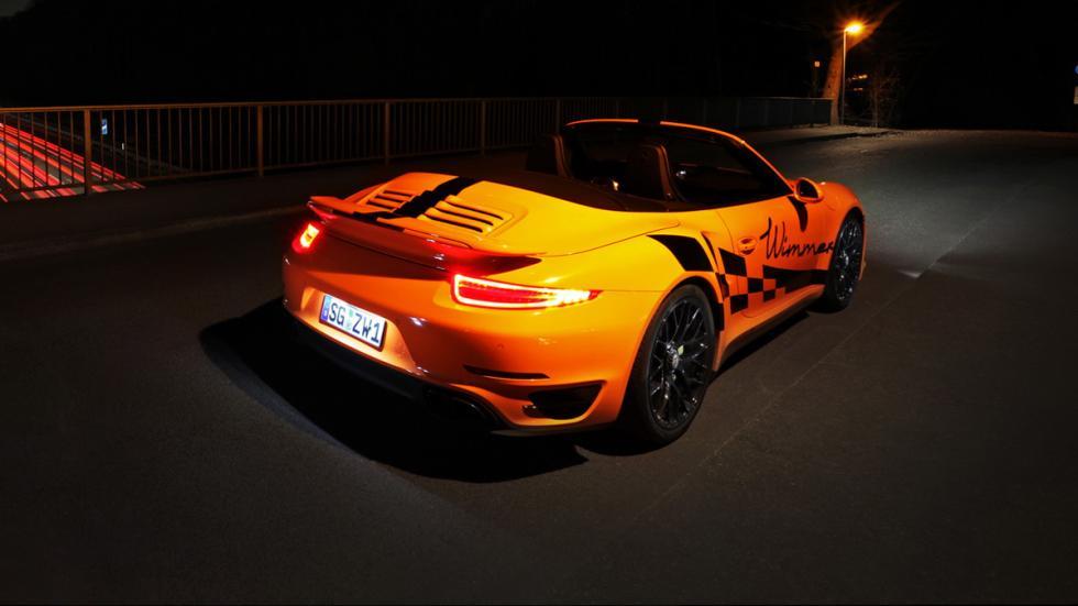 Porsche 911 Turbo S Cabriolet Wimmer tres cuartos trasera cenital
