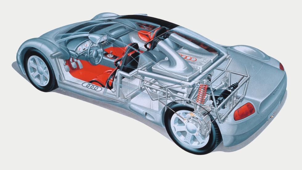 Audi Avus quattro Concept cutaway
