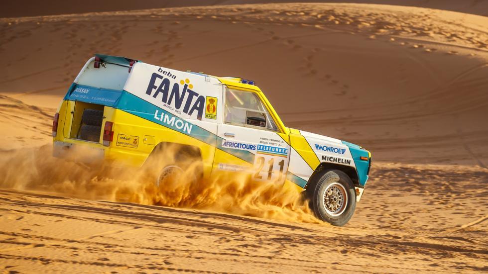 Nissan Patrol Fanta Limón París Dakar 1987 lateral