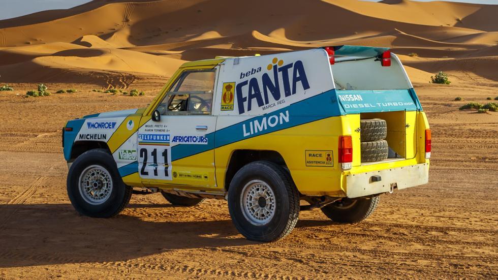 Nissan Patrol Fanta Limón París Dakar 1987 zaga