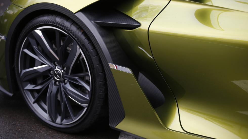 prueba DS E-Tense Concept Madrid detalle aerodinámica