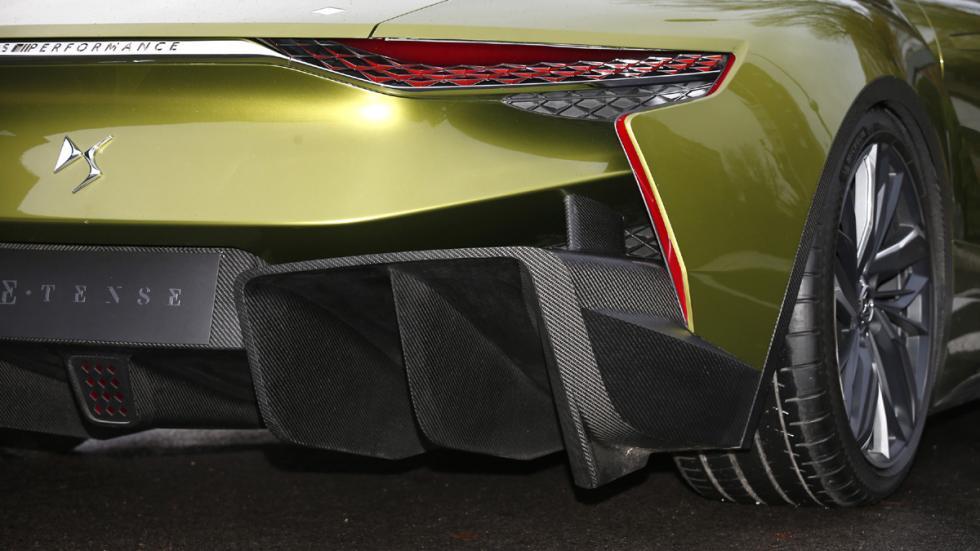 prueba DS E-Tense Concept Madrid detalle trasera aerodinámica