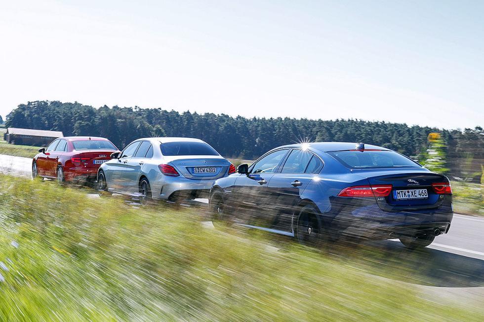 Duelo de superberlinas: Audi S4/Jaguar XE S/Mercedes-AMG C