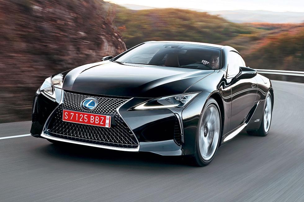 Lexus LC 500. Unos 100.000 euros. Motor híbrido de hasta 359 CV.
