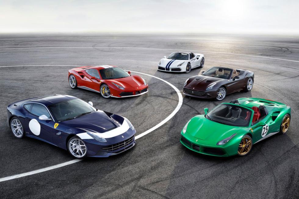 Modelos Ferrari 70 aniversario. En 2017. De cada modelo, habrá una edición limit
