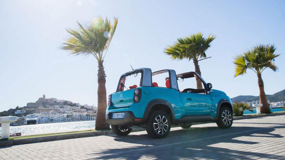 Citroën E-Mehari azul trasera