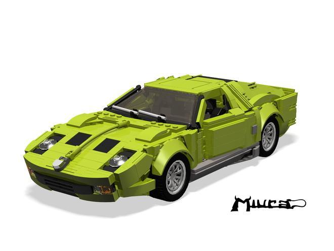 Lambo Miura creado con Lego