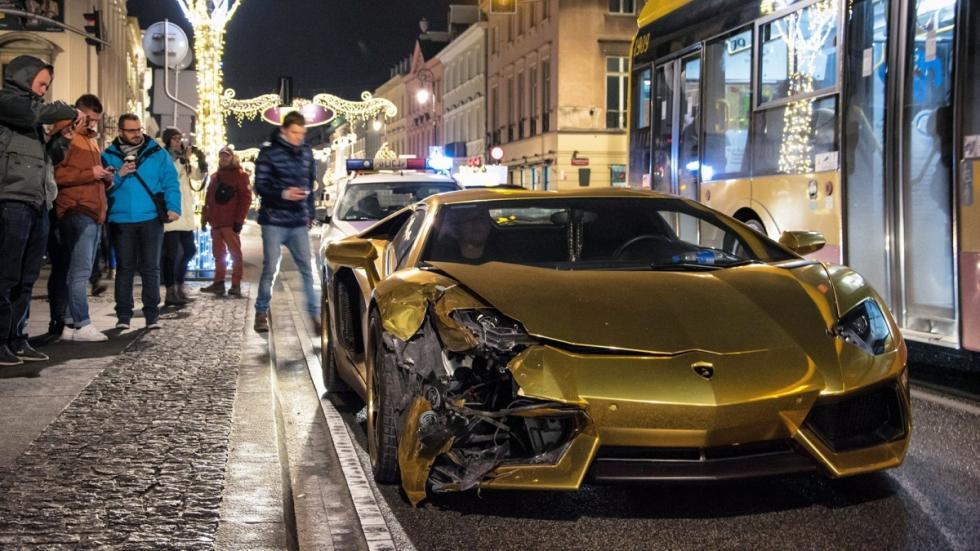 Accidente Lamborghini Aventador Polonia