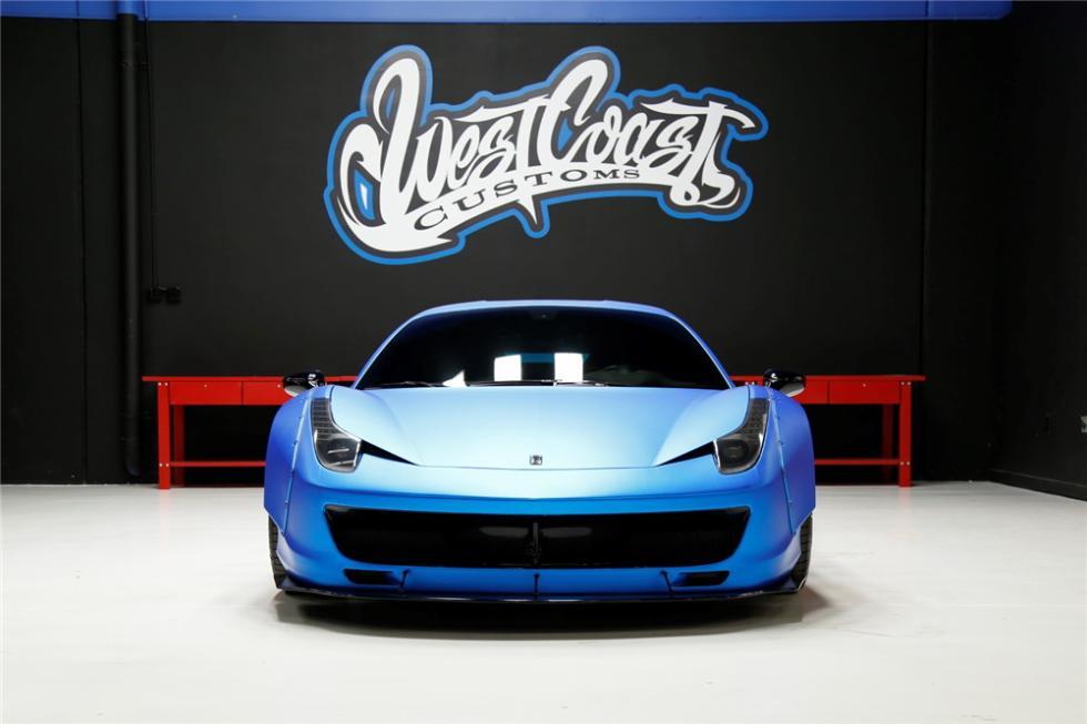 El Ferrari  458 Italia de Justin Bieber
