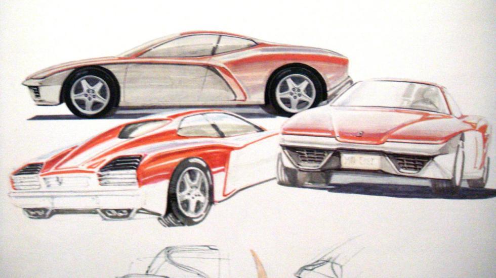Ferrari F.Z.93 Zagato bocetos