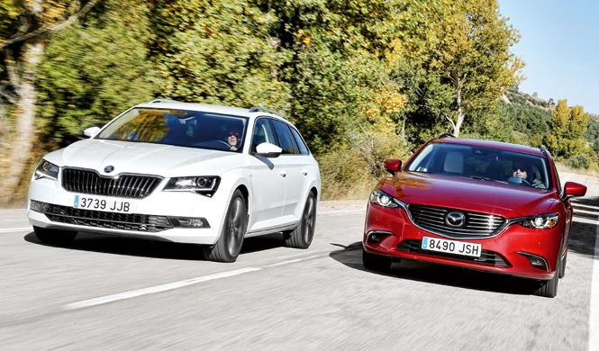 Comparativa: Mazda6 Wagon vs Skoda Superb Combi