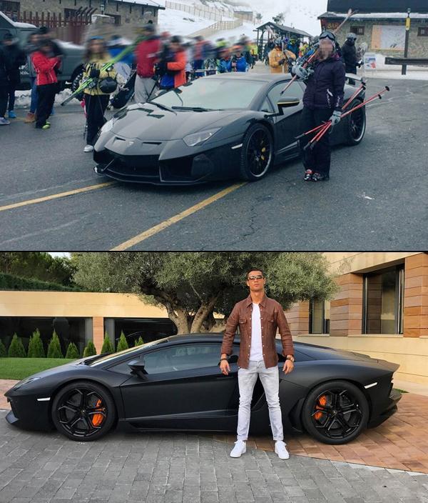 Cristiano Ronaldo Lamborghini Navacerrada