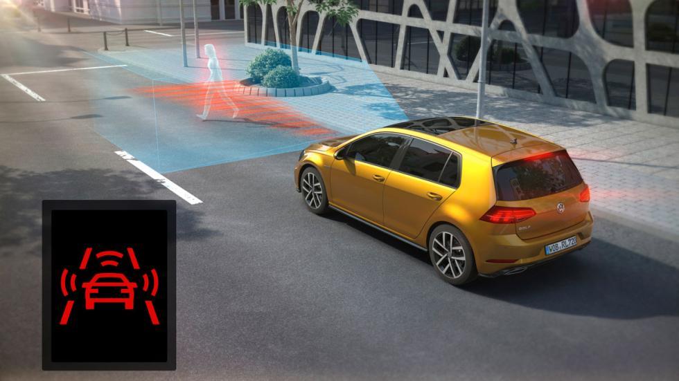 Volkswagen Golf 2017 detección de peatones