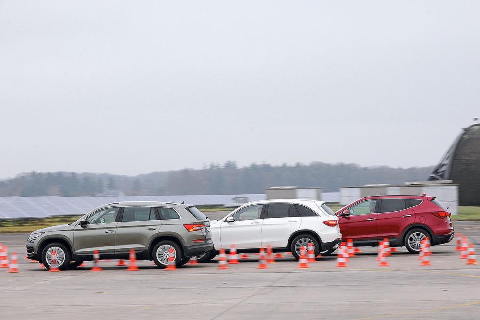 Comparativa: Hyundai Santa Fe/Mercedes GLC/Skoda Kodiaq