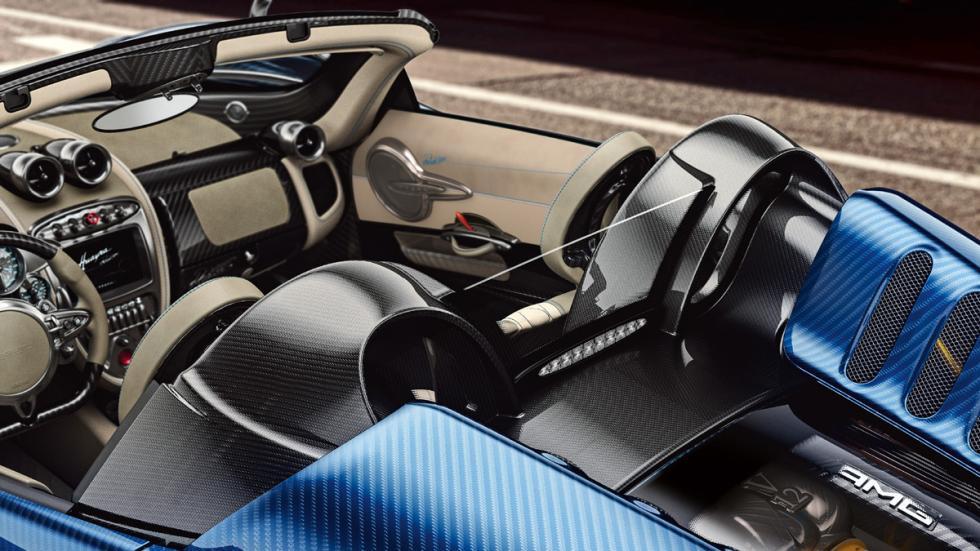 Pagani Huayra Roadster detalle techo