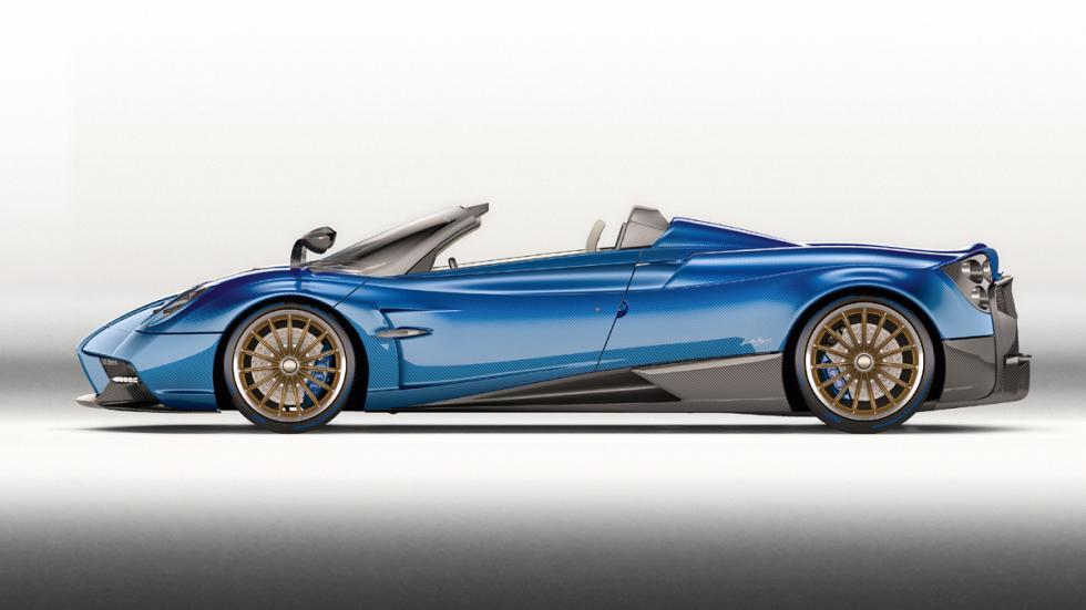 Pagani Huayra Roadster lateral descapotado estudio