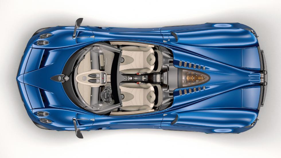 Pagani Huayra Roadster techo descapotado estudio