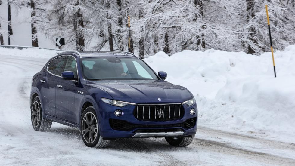 Prueba Maserati Levante S, nieve