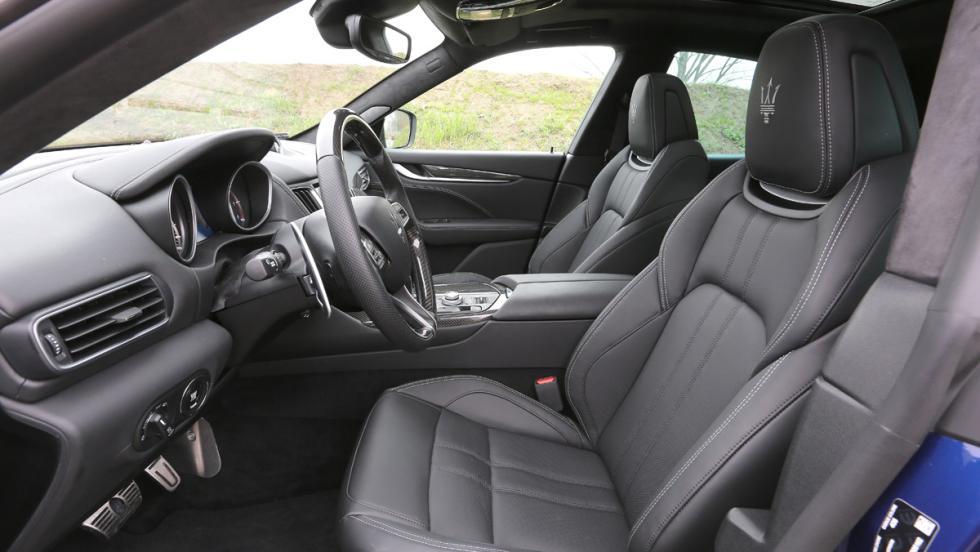 Prueba Maserati Levante S, asientos delanteros