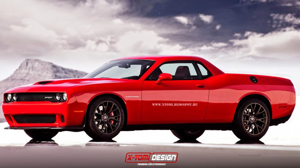 10 deportivos transformados pick-up Dodge Challenger SRT Hellcat