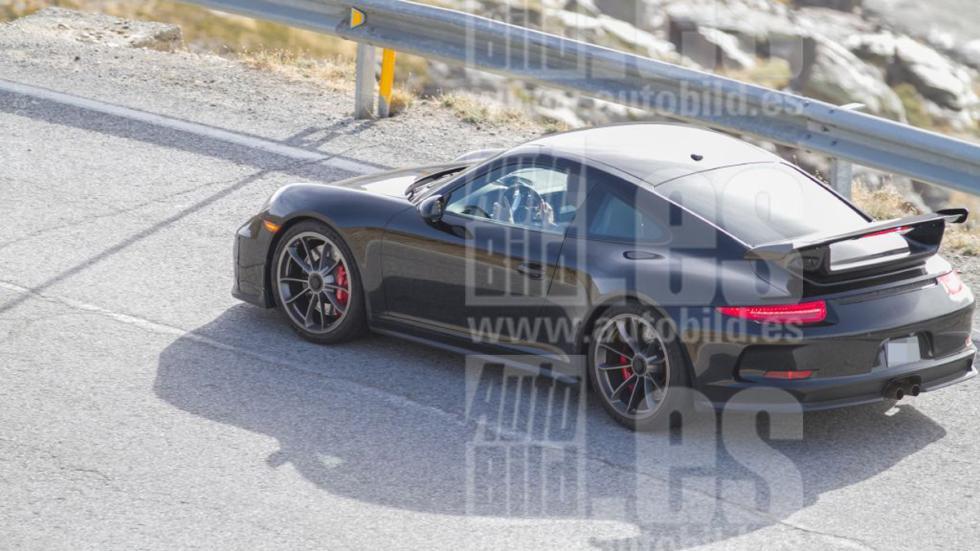 Porsche 911 GT3 2017 fotos espía zaga