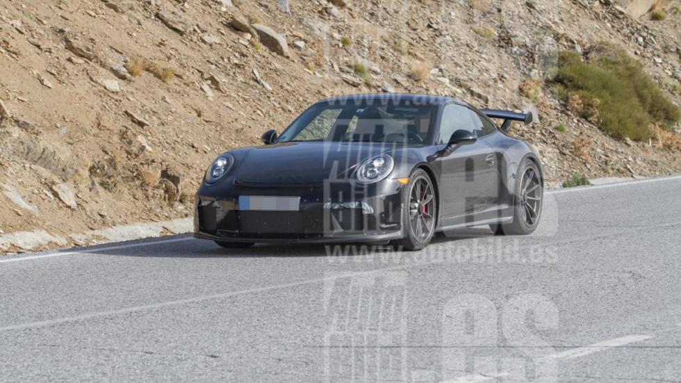 Porsche 911 GT3 2017 fotos espía delantera