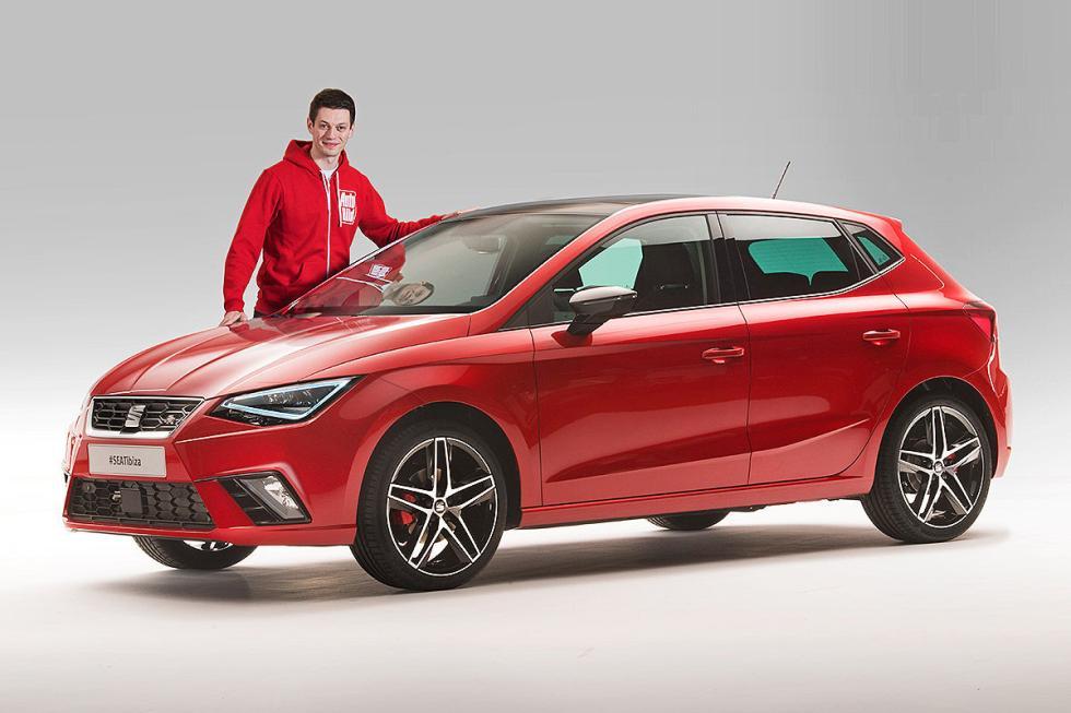 Presentación del nuevo Seat Ibiza, primer modelo del grupo Volkswagen con la pla