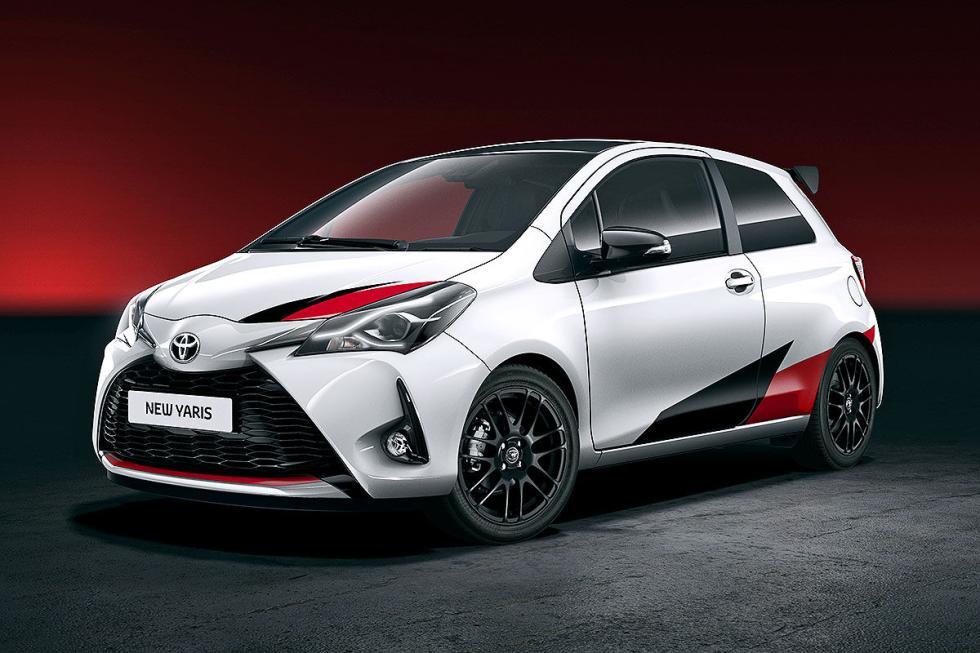 Veremos la versión tope de gama del Toyota Yaris, con estilo rally, y una potenc