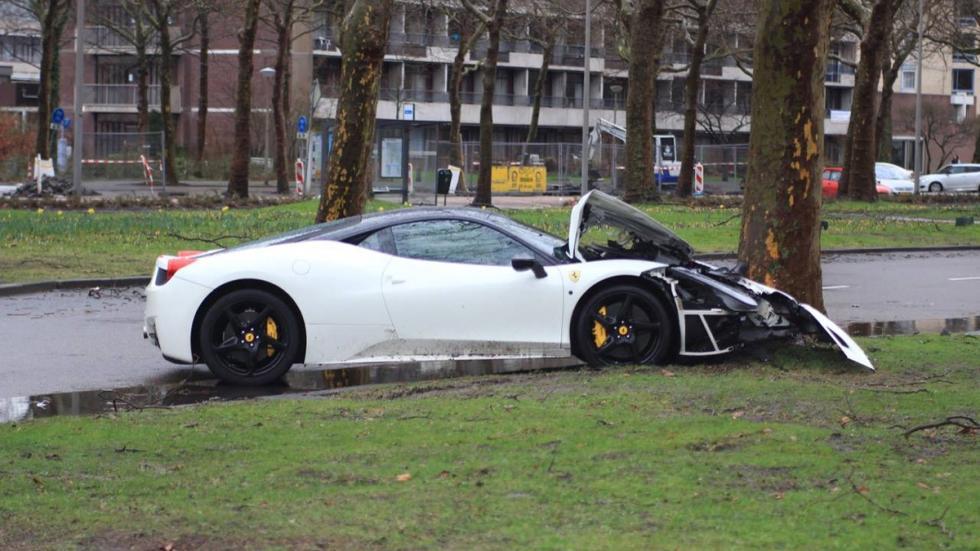accidente Ferrari 458 Italia Ámsterdam perfil