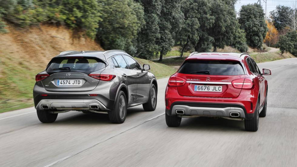 Comparativa Mercedes GLA/Infiniti QX30 trasera