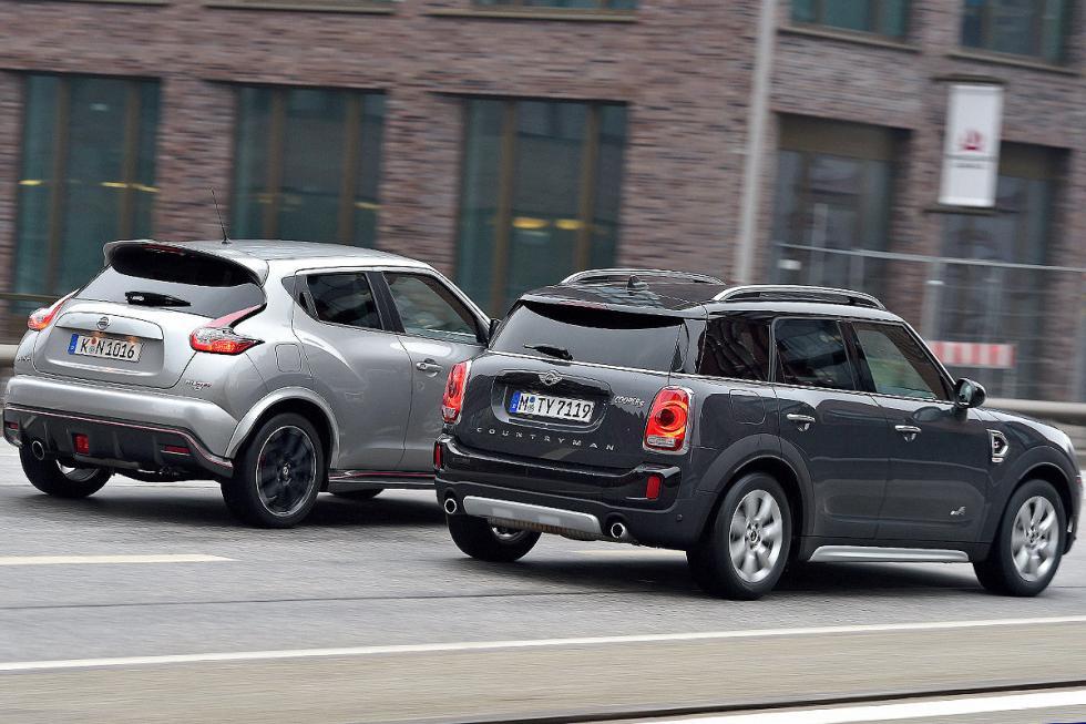 Cara a cara: Mini Countryman Cooper S/Nissan Juke Nismo RS
