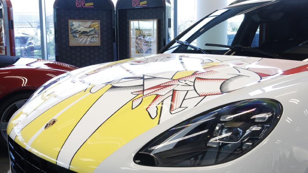 Pop art Roy Lichtenstein Porsche macan