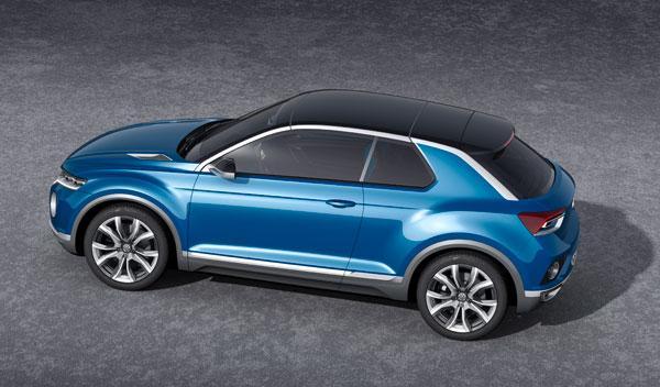 Volkswagen T-ROC tres cuartos aéreo
