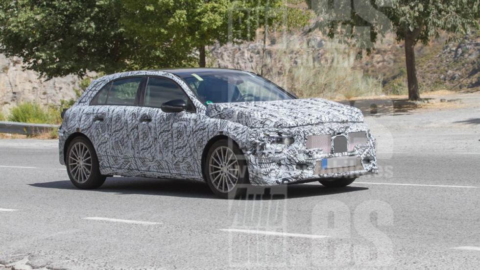 Mercedes Clase A 2018 fotos espía lateral